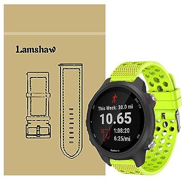 Ceston Deporte Aire Silicona Clásico Correas para Smartwatch Garmin Forerunner 245 / Garmin Forerunner 245 Music (Verde)