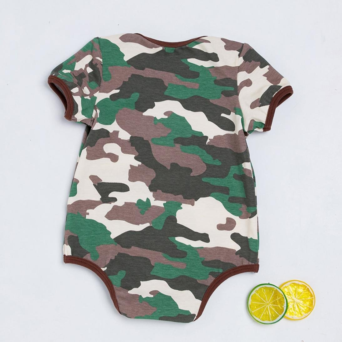 3b3533ce1 Amazon.com  OUBAO Baby Romper Summer Toddler Newborn Infant Baby Boy ...