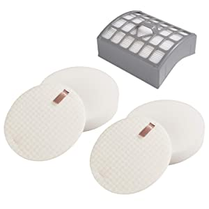 ZLZH Vacuum Filter 1 Hepa Filter & 2 Foam Felt Filters for Shark Rotator Vacuum Filter Slim-Lite Lift-Away NV340 NV341 Foam & Felt Filter Kit Professional Vacuum Replacement Parts