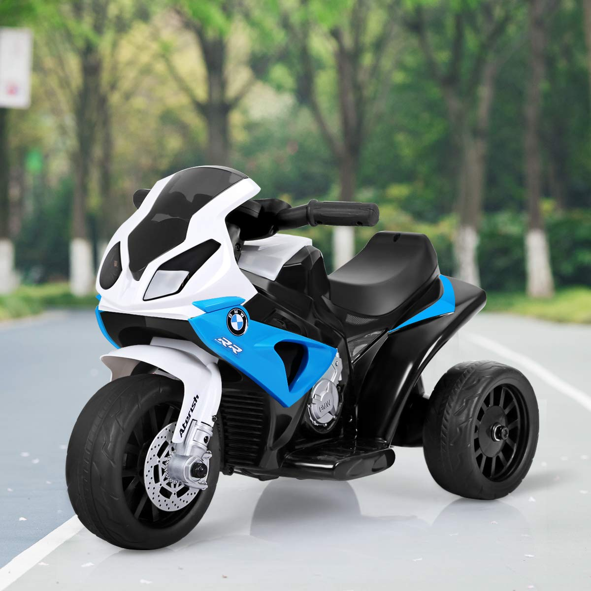 6V Battery Powered 3 Wheels Motorcycle Toy for Children Boys /& Girls Costzon Kids Ride on Motorcycle Blue Pedal Electric Ride on Motorcycle w//Headlights /&Music