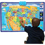Amazon zanzoon map world interactive talking world map toys cp toys interactive talking usa wall map w 1000 facts and questions gumiabroncs Image collections