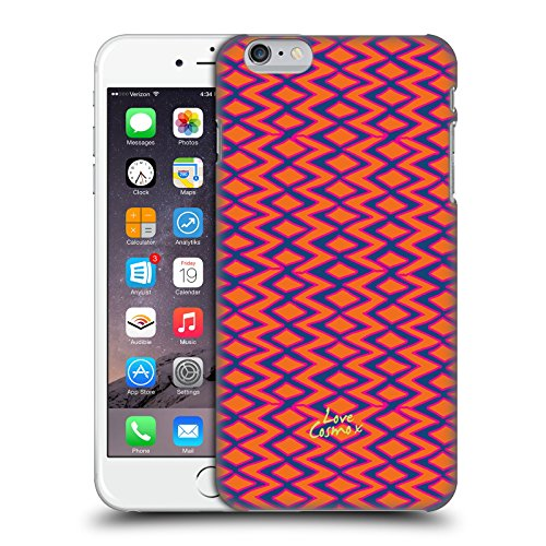 Official Cosmopolitan Blue And Orange Aztec Brights Hard Back Case for Apple iPhone 6 Plus / 6s Plus