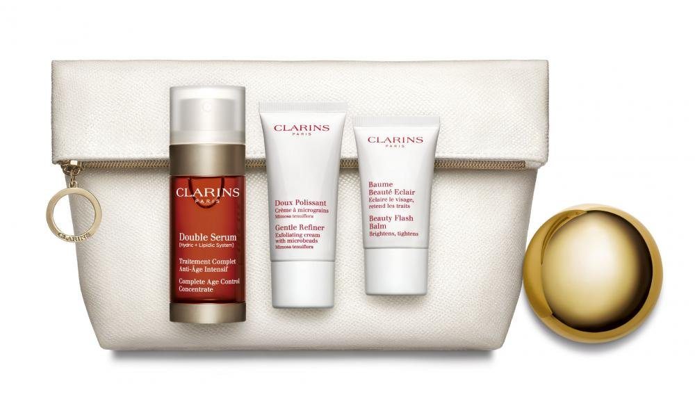 coffret double serum clarins