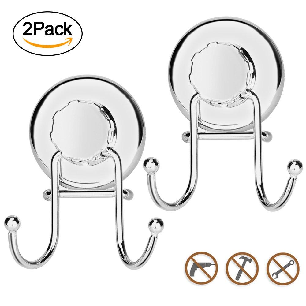 AOFU Suction Cup Hooks, Powerful Vacuum Shower Towel Hook Holder ...