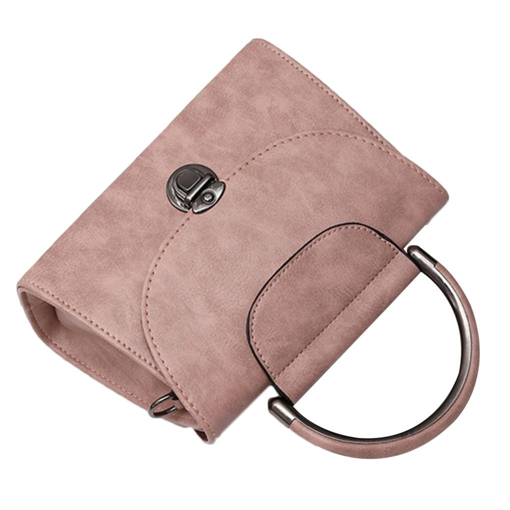 Xuanhemen Buckle Girl Messenger Crossbody Bag Lady Women PU Leather Shoulder Bag Shopping Travel Phone Handbag Purse Wallet