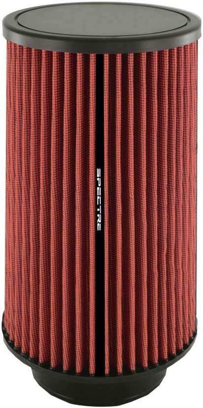 Spectre Universal Clamp-On Air Filter: High Performance, Washable Filter: Round Tapered; 4 in (102 mm) Flange ID; 10.719 in (272 mm) Height; 6 in (152 mm) Base; 5.125 in (130 mm) Top, SPE-HPR9882