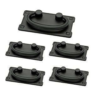 Franklin Brass P62076-FB-C1 Horizontal Bail Kitchen Cabinet Hardware Drawer Handle Pull 5 Pack Flat Black
