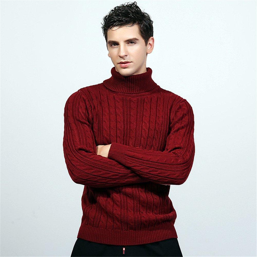 Jdfosvm männer - Pullover Hedging und Lange ärmel Pullover, Kopf hoch, diesen Pullover britischen Stil Pullover,Rotwein,l