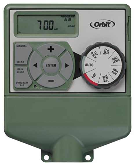 Bon Orbit Irrigation Products Sprinkler System 4 Station Standard Indoor  Mounted Control Timer, 1