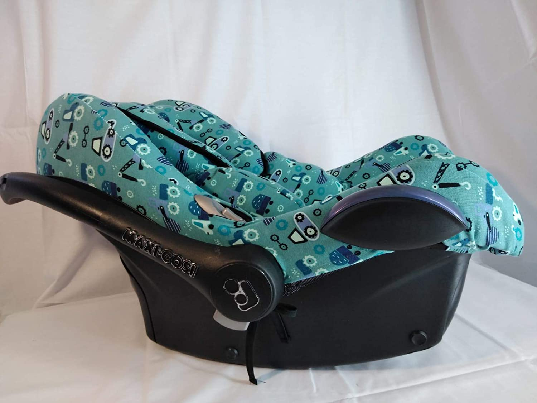 Cabriofix Be Cool MOON-BEBE Housse pour Maxi COSI Jan/é Koss Blanc Streety Fix City