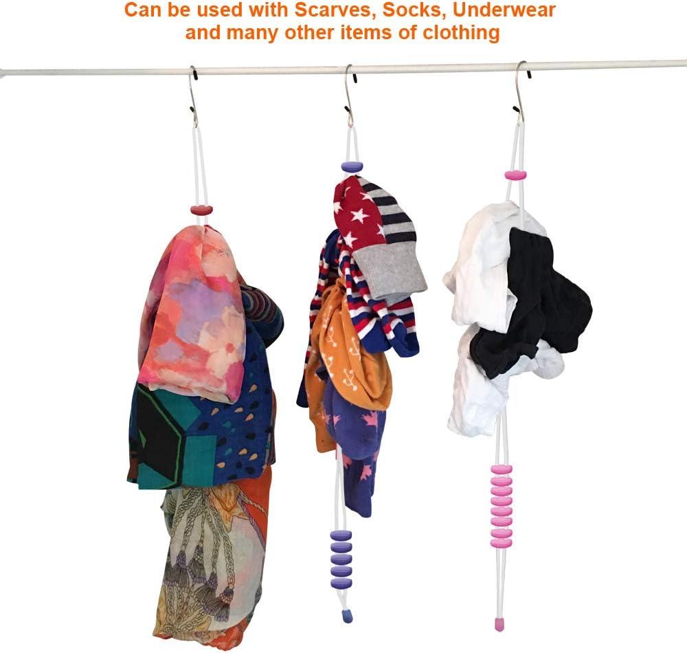 W/äsche Sortierer Mobi Lock Socken Clips Organizer 30 Paar Socken Verwendung auch f/ür Handt/ücher oder Schals 3er Pack - Socken in Waschmaschine//Trockner gepaart halten Socken Aufbewahrung