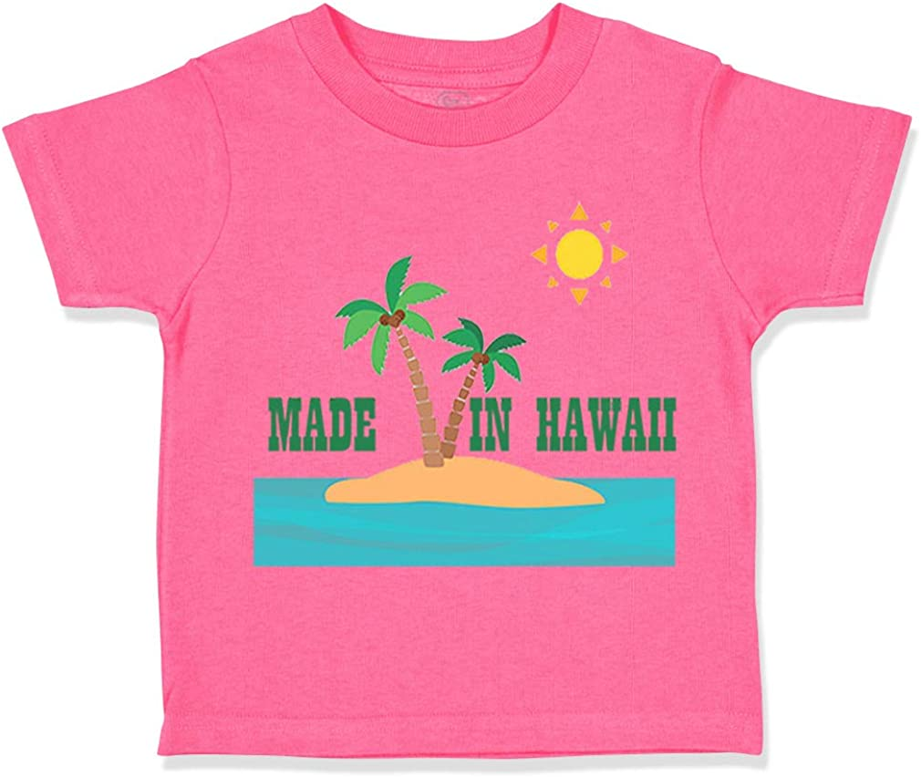 Custom Toddler T-Shirt Made in Hawaii Style E Cotton Boy /& Girl Clothes