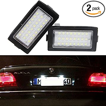 Car Led License Plate Light Lamp NSLUMO Auto Rear Tag Light Assembly For BMW E36 3 series 1992~1998 Led Number Plate Lamp Direct Bulb Replacement