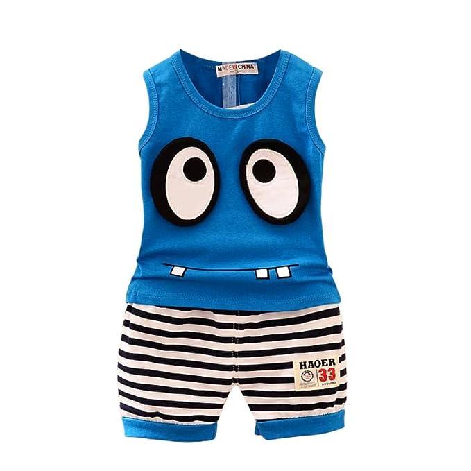 db30f727a BOBORA Toddler Baby Boy Summer Clothing Set Sleeveless Top + Short ...
