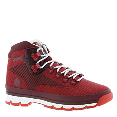 99a466f7523 Timberland Mens Euro Hiker Jacquard Hiking Boot, Medium Red/Haute ...