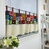 Abreeze Japanese Style Valances for Kitchen – Colorful Printed Cafe Curtain Short Curtain Wide 55 by 27 Inch Long Review