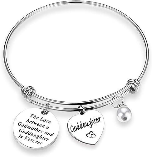 Child Gift for Goddaughter Daughter etc Christening Bracelet for Baby Girl