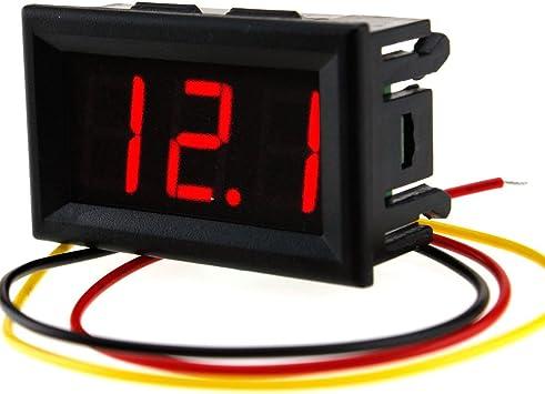 0.56 DC 0-99V 3-Wire Digital Voltmeter RED LED Display Volt Digital Meter Panel Mount Meter