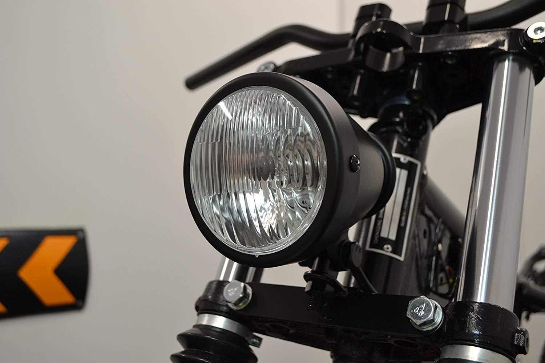 Matt Black 4.5 Vintage Style Custom Retro Motorbike Headlight