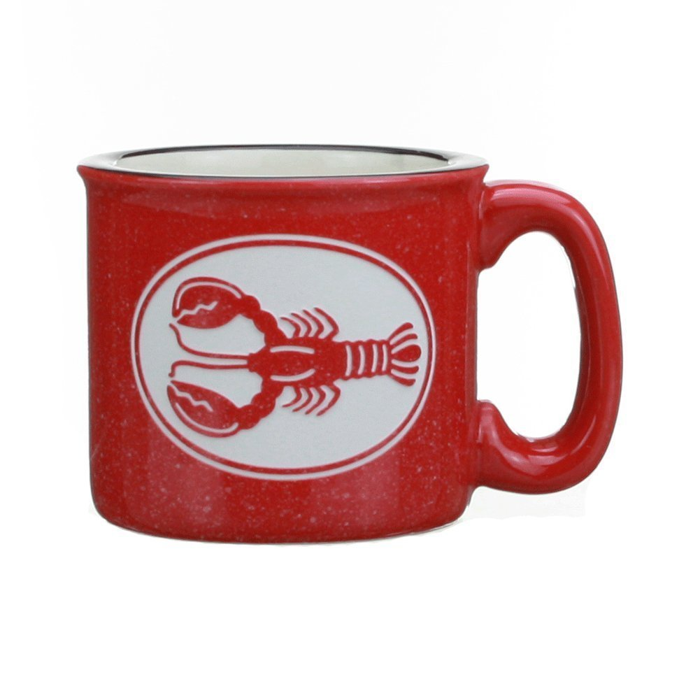 Cape Shore Red Etched Lobser 15 Ounce Coffee Tea Mug Cup