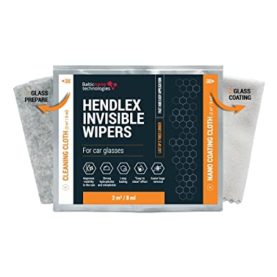 Hendlex Nano Ceramic Glass Coating Napkins Invisible Wiper | Nanotechnology Cloth for Hydrophobic Car Windshield Water Repellent Protection 2in1: Health & Personal Care
