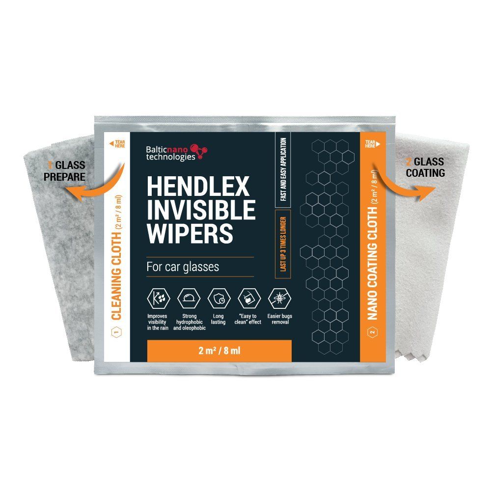 Hendlex Invisible Wipers Nano repelente Agua Parabrisas Para ...