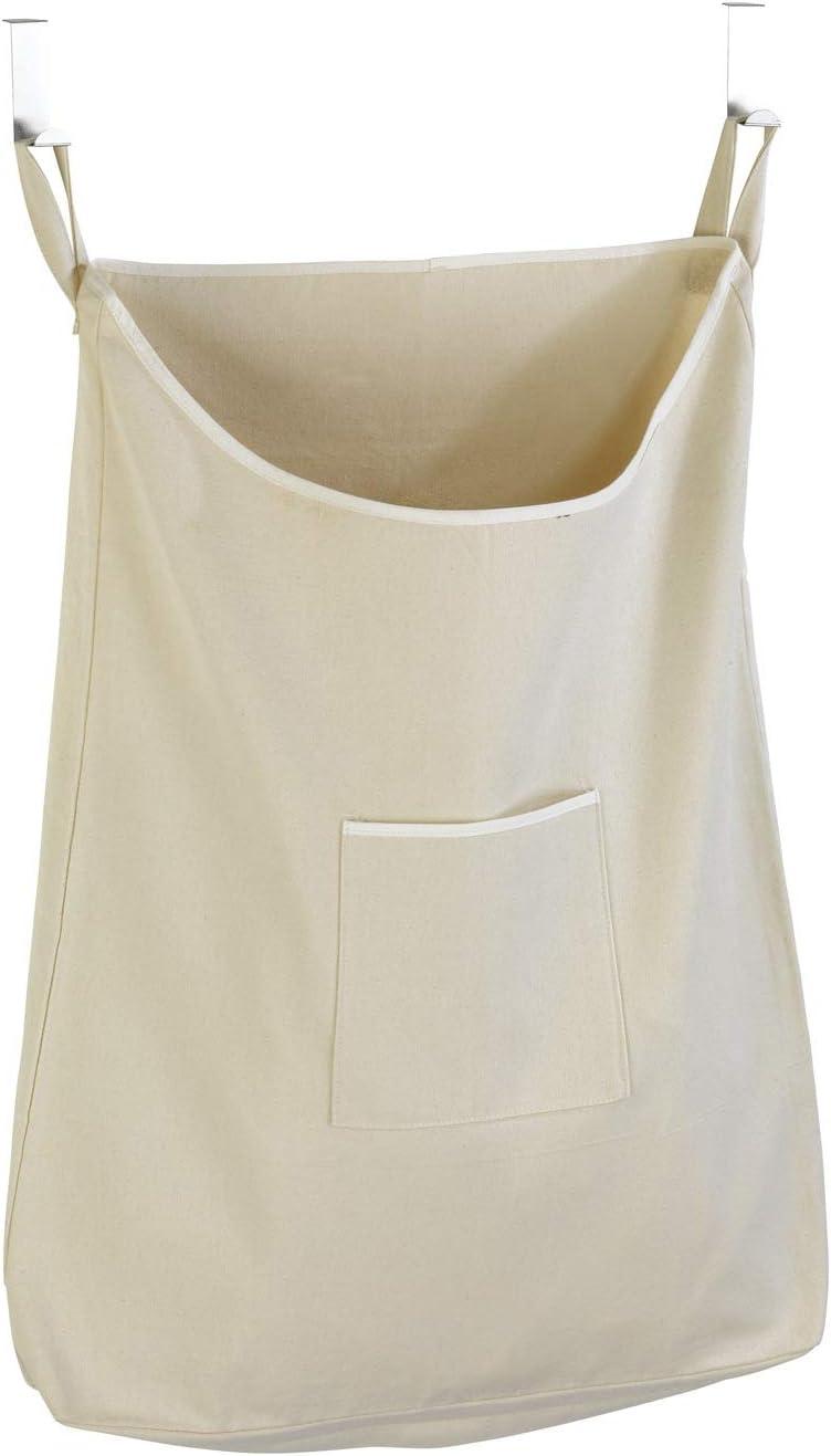 WENKO Over-The-Door Laundry Collector, 20.5 x 31.9 x 3.9 inch, Beige