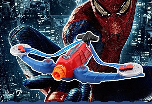 Amazing Ultimate Spiderman weapon Power Web Strike Crossbow Toy spider man Dart Blaster Soft Bullet Arrow Bow shooter (Spider Man Noir Costume)