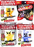 Five Nights At Freddy's 8-Bit 3-Pack Construction Set Bonnie / Chica & Freddy McFarlane + Mymoji Funko Blind Bag Mystery Head