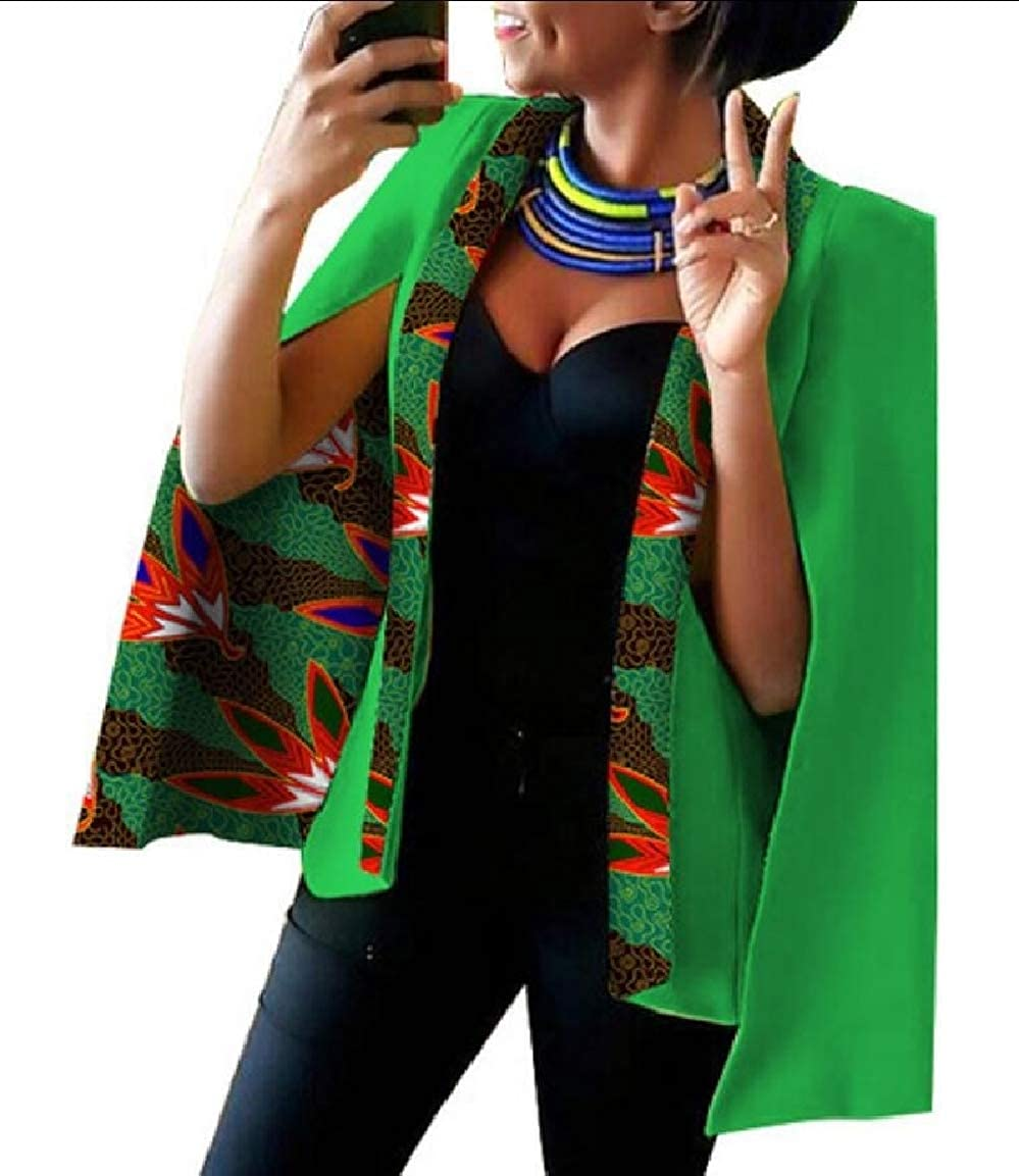 14 Keaac Womens African Dashiki Floral Print Cape Jacket Coat Blazer