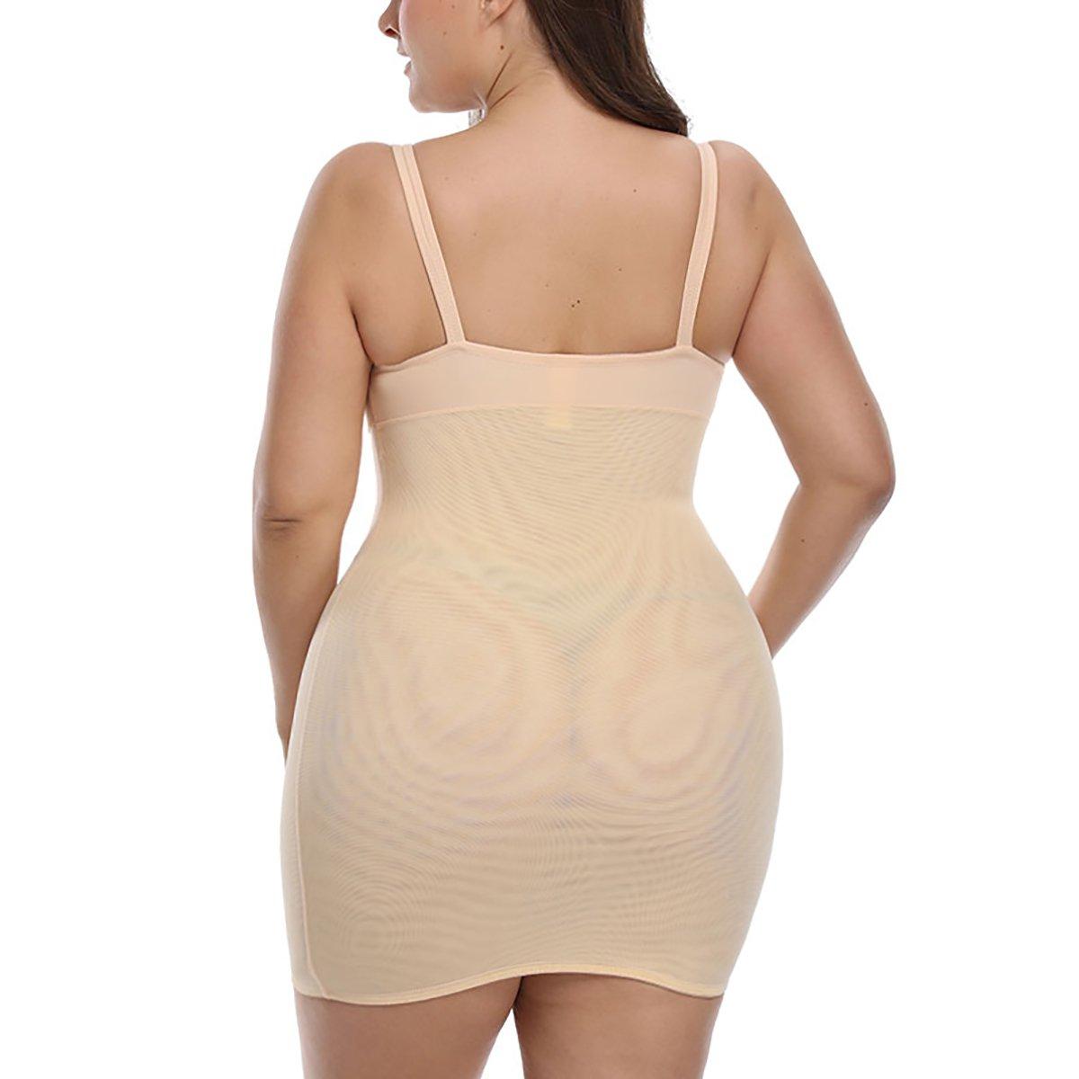 418a52abc5b TOPMELON Women's Firm Control Plus Size Slip Shapewear Seamless Spandex  Body Shaper Slimmer Feeling Yourself Full Slips at Amazon Women's Clothing  store: