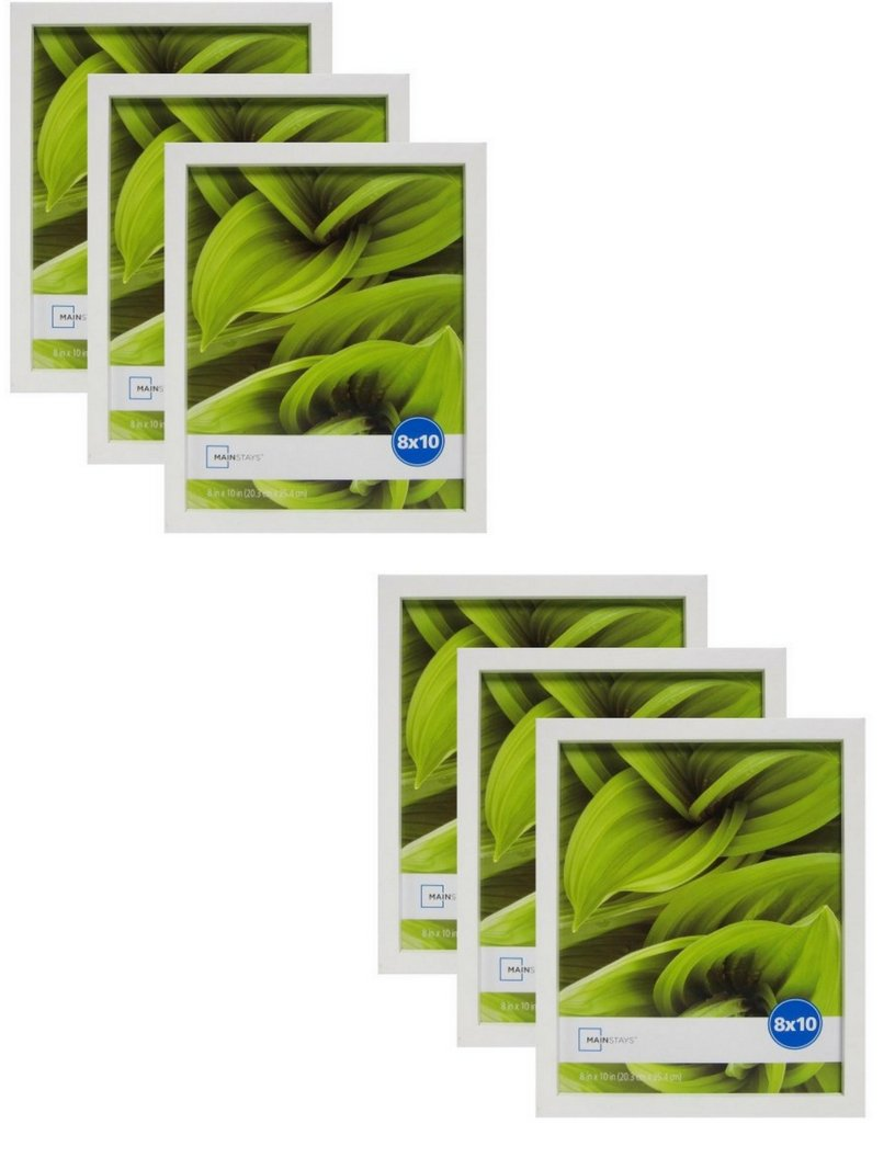 Mainstay` 8 x 10 White Linear Frame, Set of 6