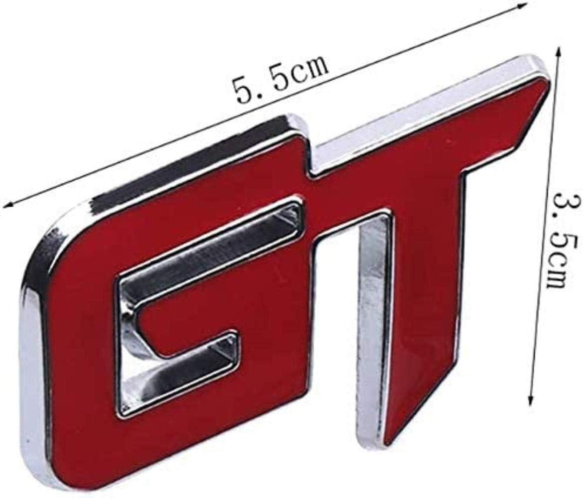 FXNB Accessori Autoadesivo della Decalcomania della Griglia della Parte Anteriore dellautomobile DellEmblema di GT 3D del Metallo per Ford Kia Volkswagen Honda A A