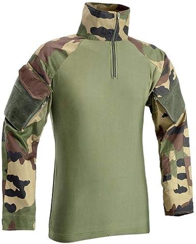 Defcon 5 – Camisa de Combate Lycra + Mesh Vert - #096A09 Medium: Amazon.es: Ropa y accesorios