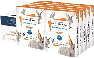 product image for Hammermill Printer Paper, Fore Multipurpose 24 lb Copy Paper, 8.5 x 11 - 10 Ream (5,000 Sheets) - 96 Bright, Made in the USA