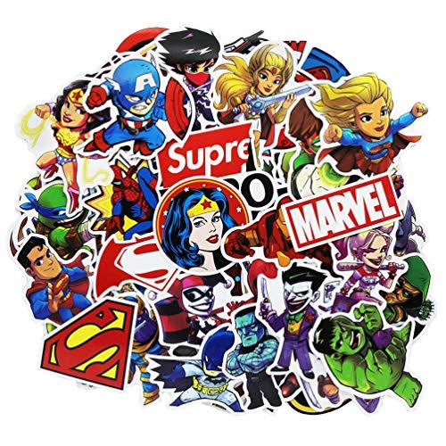 100pcs Superheros Laptop Stickers, Cartoon Computer Vinyl Sticker Waterproof Water Bottles Skateboard Luggage Decal Graffiti Patches Decal