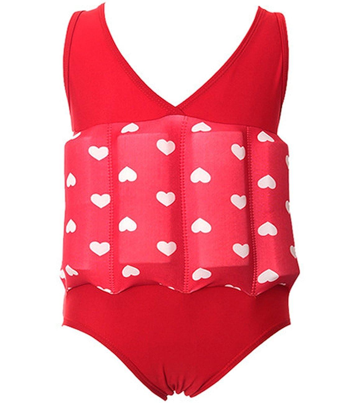 KJY Girls One Piece Swimsuit Buoyancy Bathing Suit Float Suit Swimwear