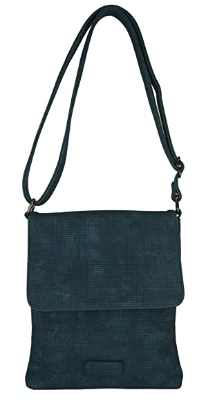 Damen Tasche Handtasche Umhängetasche Schultertasche Schwarz Blau Leder Optik
