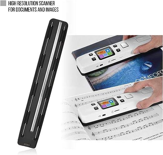 EJOYDUTY 1050DPI WiFi-Handscanner JPG//PDF Foto Mobiler A4-Dokumentenscan Quittungen f/ür Unternehmen Beinhaltet 16G SD-Karte,Schwarz 1,8 Zoll LCD-Display B/ücher Bild