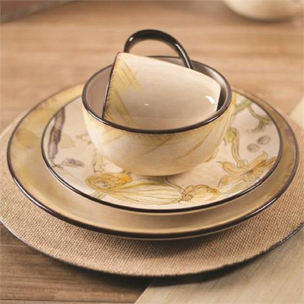 Amazon.com | Fitz and Floyd 21-003 Fattoria Soup/Cereal Bowl, Ochre ...