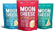 Moon Cheese - 100% Natural Cheese Snack - Variety (Garlic Parmesan, Gouda, Pepper Jack) 2 oz - 3 Pack