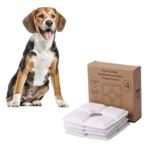 PITCHBLA 4PCS Filtro de fuente para mascotas Pequeño ...