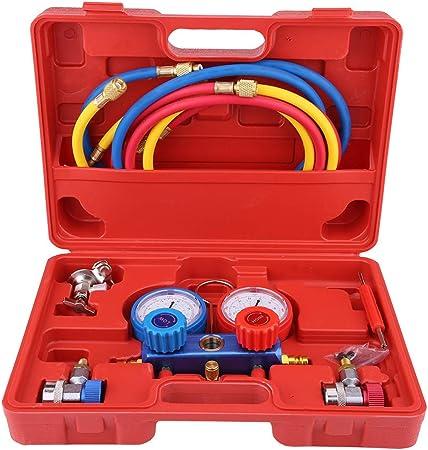 KKmoon Set di Strumenti per Il Condizionamento del Refrigerante con Tubo e Gancio per R12 R22 R404A R134A