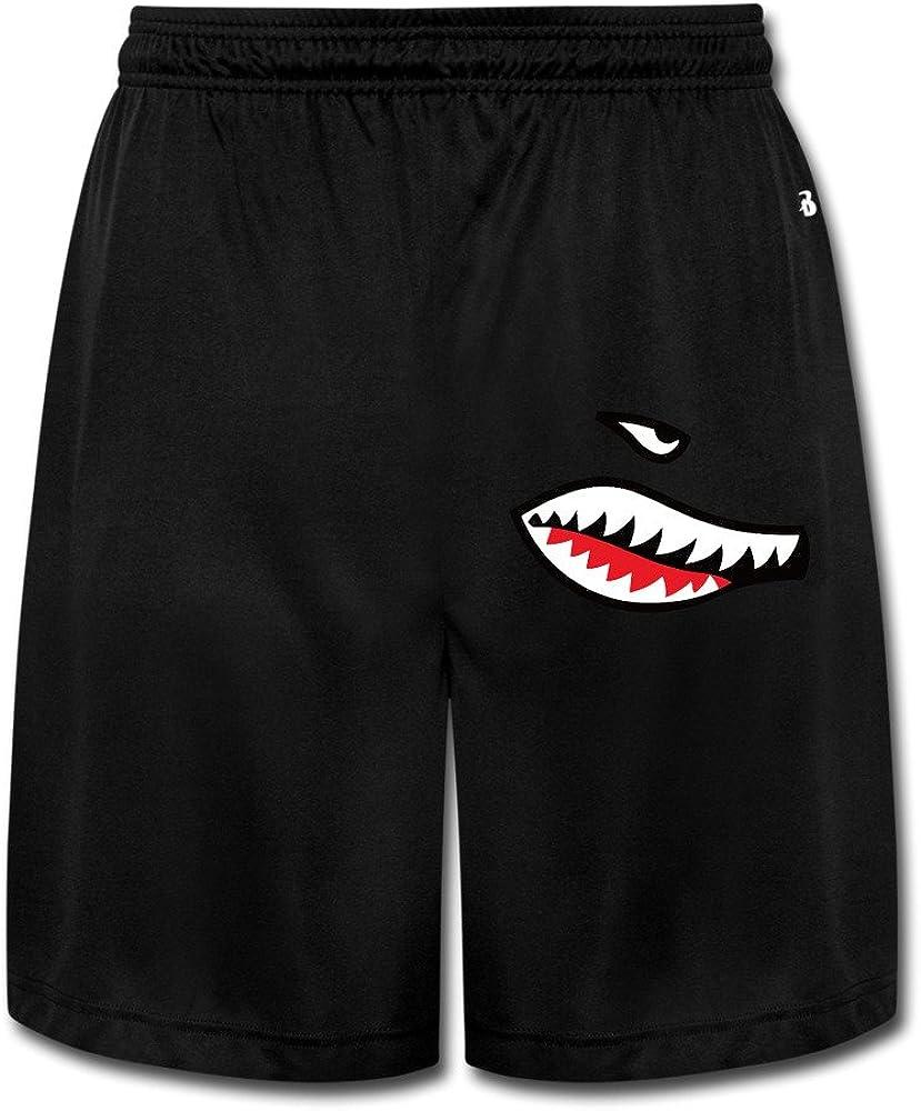 LunaCp Men's Shark Tooth Performance Shorts Sweatpants Black