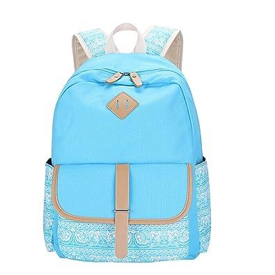 9a8d6e258524e MingTai Schulrucksack Vintage Canvas Rucksack Schultasche Damen  Kinderrucksack Schultaschen Daypacks Coole Rucksäcke Gestreift Schulranzen  Mädchen  ...