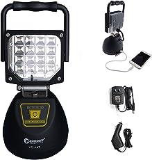 GOODGOODS LED 投光器 充電式 16W ポータブル作業灯 【 マグネット付き USBポート付き 】 4モード 夜間照明 防災グッズ 【一年保証】 YC-16T