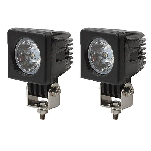 32 opinioni per 10W piazza CREE LED spot del fascio luci di azionamento del lavoro lampade spot