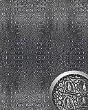 WallFace 13521 CROCO Wall panel textured 3D interior decor luxury wallcovering self-adhesive black silver | 2,60 sqm