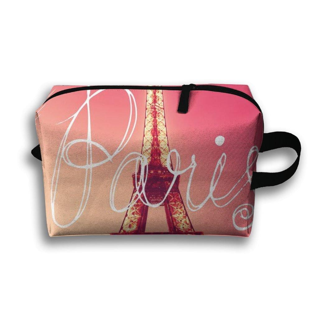 DTW1GjuY Lightweight And Waterproof Multifunction Storage Luggage Bag Paris Eiffel Tower