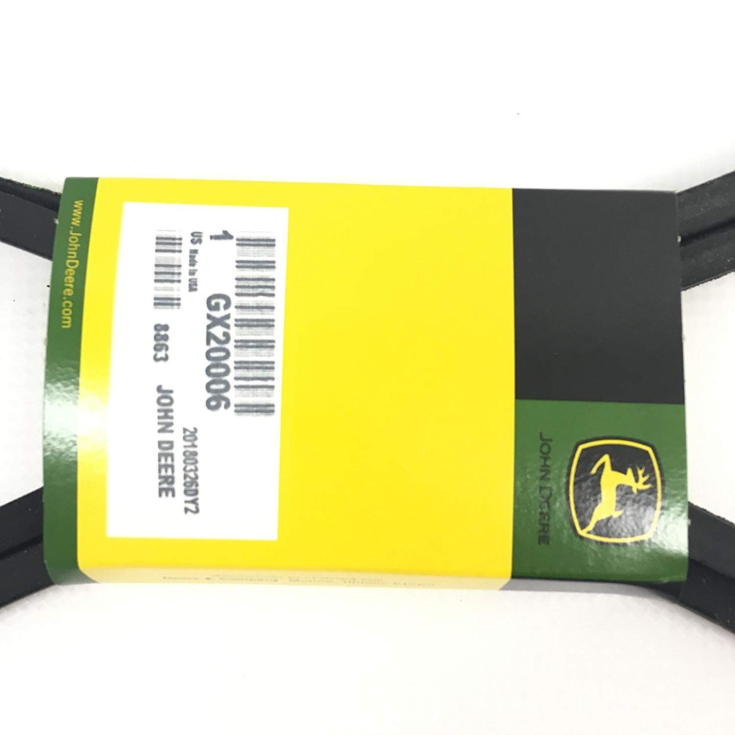 Amazon.com : John Deere GX20006 Lawn Tractor Transmission Drive Belt Genuine Original Equipment Manufacturer (OEM) Part : Garden & Outdoor